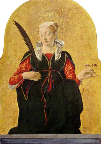 Wall Art - Drawing - Francesco Del Cossa, Saint Lucy, Italian by Litz Collection