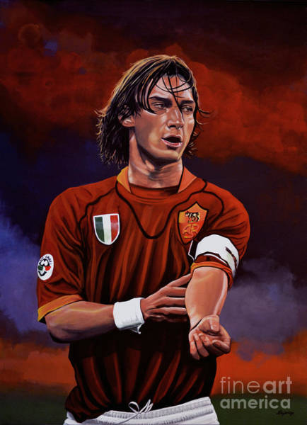 Stadium Painting - Francesco Totti by Paul Meijering