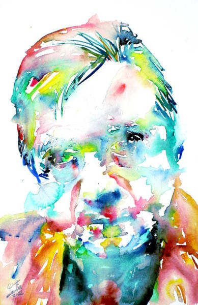 Francis Bacon Wall Art - Painting - Francis Bacon - Watercolor Portrait by Fabrizio Cassetta