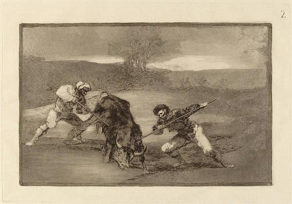 Wall Art - Drawing - Francisco De Goya, Otro Modo De Cazar A Pie Another Way by Quint Lox