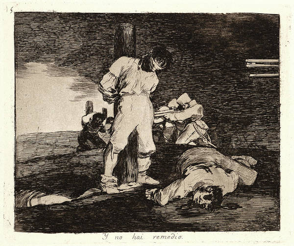 Wall Art - Drawing - Francisco De Goya Spanish, 1746-1828. And Theres No Help by Litz Collection