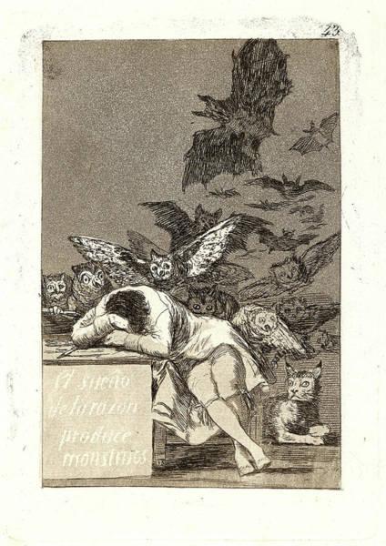 Wall Art - Drawing - Francisco De Goya Spanish, 1746-1828. El Sueño De La Razon by Litz Collection