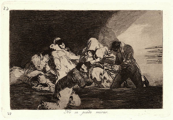 Wall Art - Drawing - Francisco De Goya Spanish, 1746-1828. One Cant Look No Se by Litz Collection