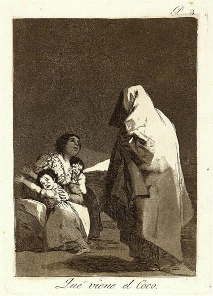 Coco Drawing - Francisco De Goya Spanish, 1746-1828. Que Viene El Coco by Litz Collection