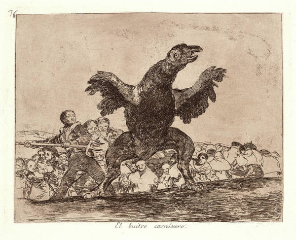 Carnivorous Drawing - Francisco De Goya Spanish, 1746-1828. The Carnivorous by Litz Collection