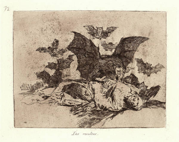 Wall Art - Drawing - Francisco De Goya Spanish, 1746-1828. The Consequences Las by Litz Collection