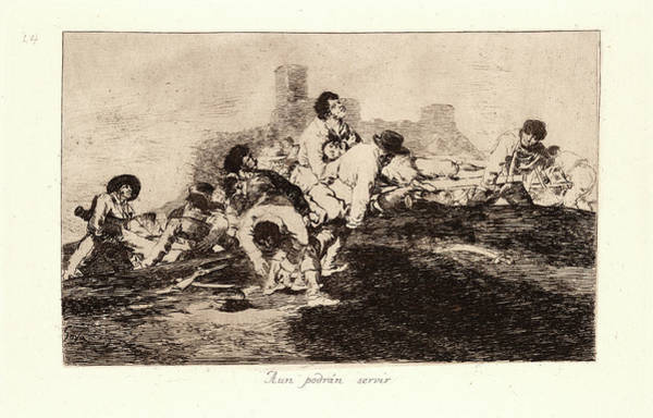 Wall Art - Drawing - Francisco De Goya Spanish, 1746-1828. They Can Still by Litz Collection