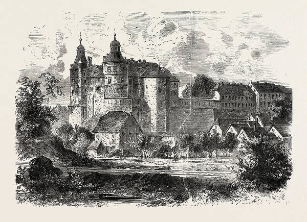 Chateau Drawing - Franco-prussian War Chateau De Montbeliard by French School