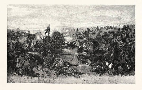 Brigade Drawing - Franco-prussian War The 52nd Infantry Regiment by French School