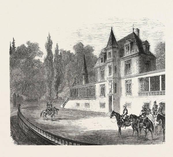 Chateau Drawing - Franco-prussian War The Chateau De Bellevue Near Sedan 1870 by French School