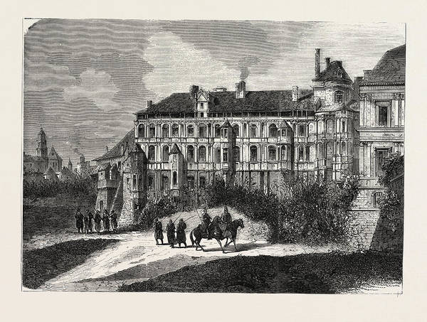 Chateau Drawing - Franco-prussian War The Chateau De Blois 1870 by French School