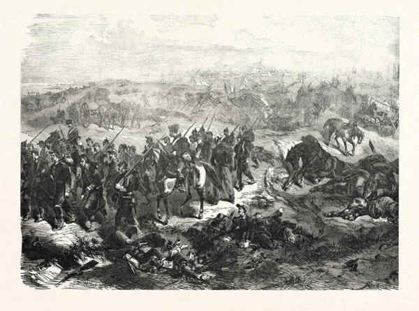 Hijack Wall Art - Drawing - Franco-prussian War The Hijacked French Camp At Beaumont by French School