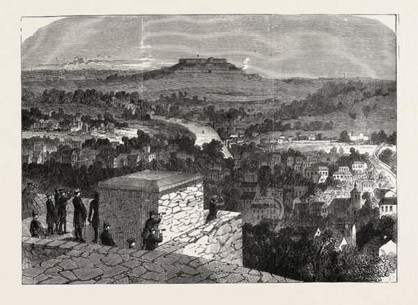 Wall Art - Drawing - Franco-prussian War View Of Mont-valerian by French School