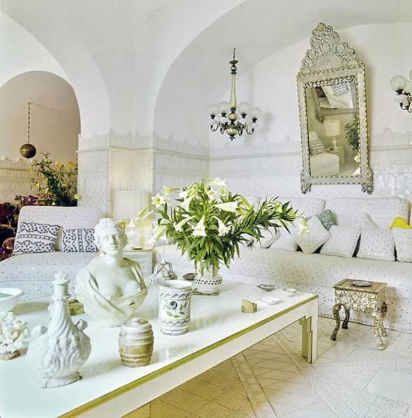 Wall Art - Photograph - Franco Zeffirelli's Living Room by Horst P. Horst