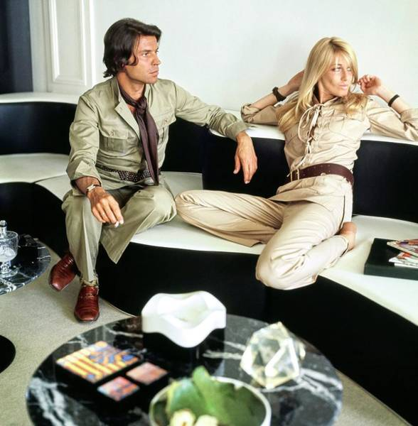 Wall Art - Photograph - Francois And Betty Catroux At Home by Horst P. Horst