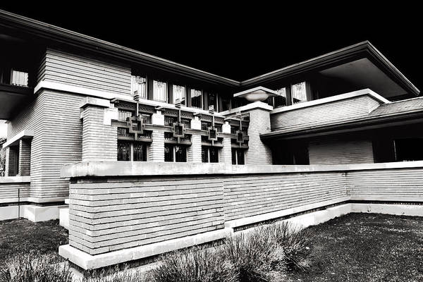 Photograph - Frank Lloyd Wright In Black And White by Evie Carrier