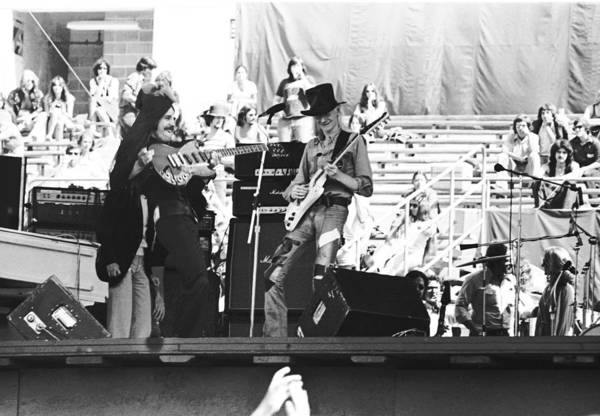 Photograph - Frank Marino And Johnny Winter by Ben Upham