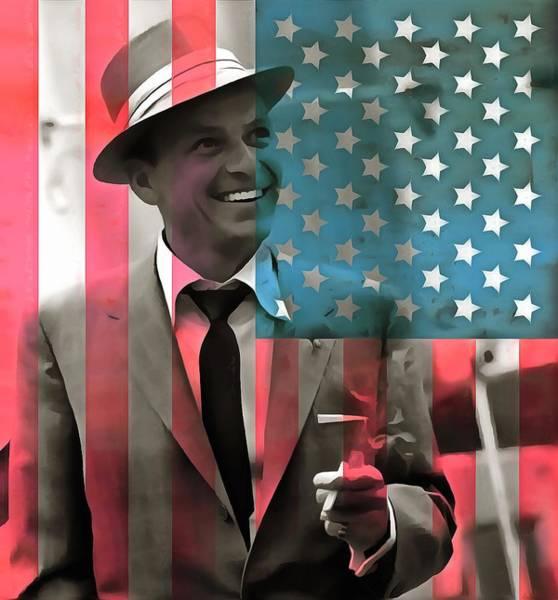 Wall Art - Digital Art - Frank Sinatra American Legend by Dan Sproul
