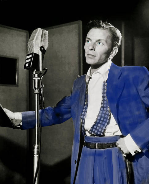 Photograph - Frank Sinatra - Old Blue Eyes by Ericamaxine Price