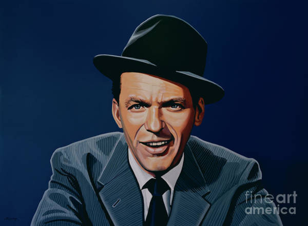 Run Wall Art - Painting - Frank Sinatra by Paul Meijering