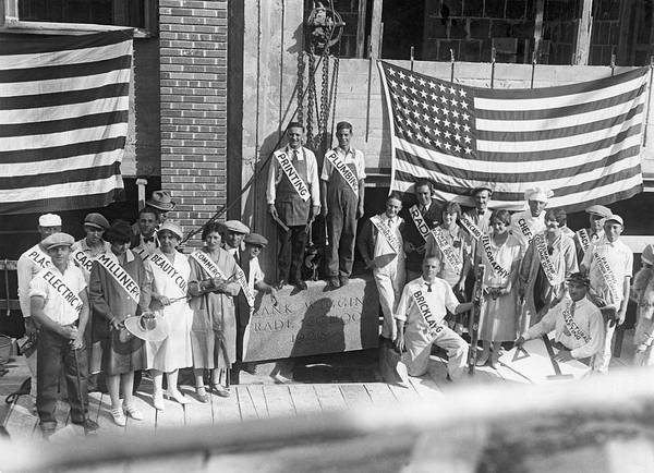 Drafting Photograph - Frank Wiggins Trade School by Underwood Archives