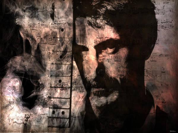 Frank Zappa Wall Art - Digital Art - Frank Zappa by D Walton