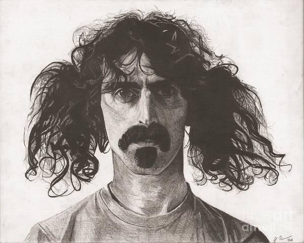 Frank Zappa Wall Art - Drawing - Frank Zappa by Jeff Ridlen