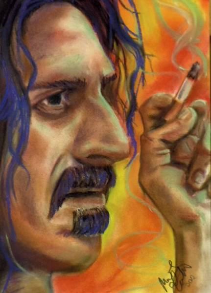 Frank Zappa Wall Art - Pastel - Frank Zappa by Mark Anthony