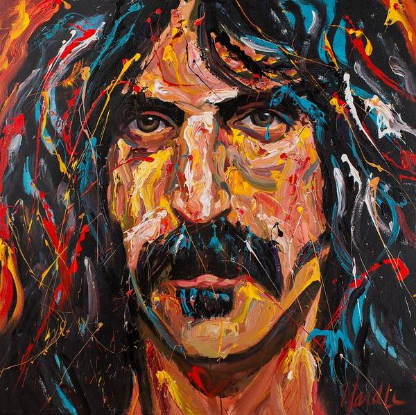 Frank Zappa Wall Art - Painting - Frank Zappa by Michael Wardle