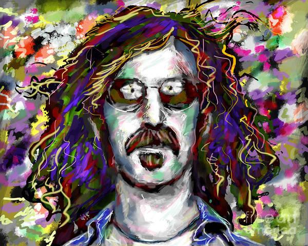Frank Zappa Wall Art - Mixed Media - Frank Zappa Painting by Ryan Rock Artist