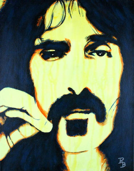 Painting - Frank Zappa Pop Art by Bob Baker