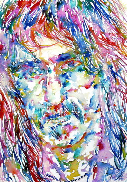 Frank Zappa Wall Art - Painting - Frank Zappa  Portrait.3 by Fabrizio Cassetta