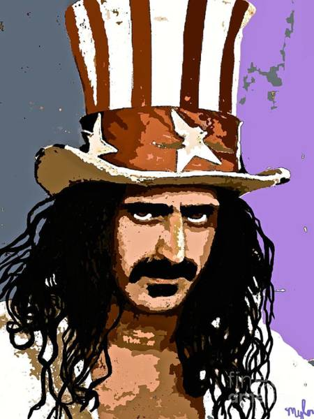 Frank Zappa Painting - Frank Zappa by Saundra Myles