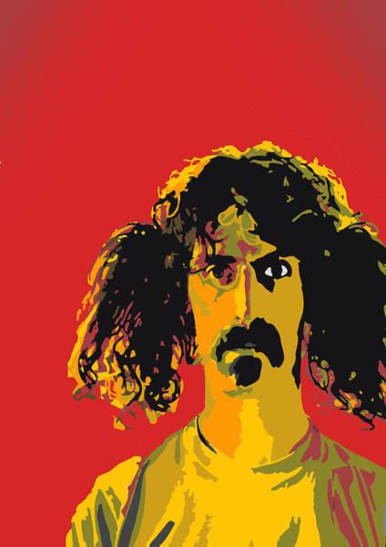 Frank Zappa Wall Art - Digital Art - Frank Zappa by Viv Griffiths