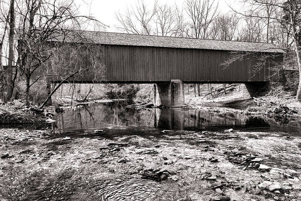 Photograph - Frankenfield Bridge Over The Tinicum Creek by Olivier Le Queinec