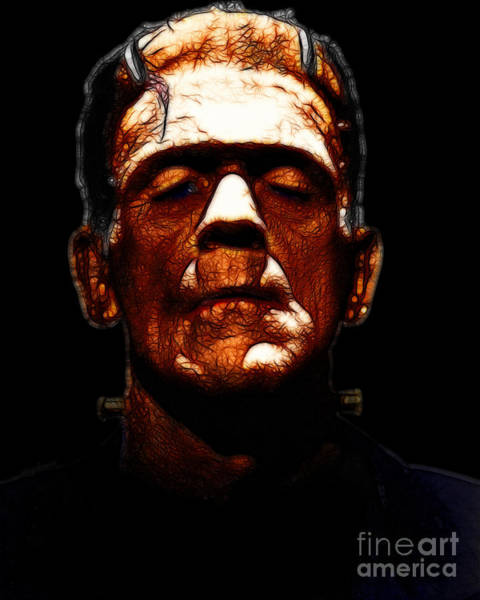 Photograph - Frankenstein - Black by Wingsdomain Art and Photography