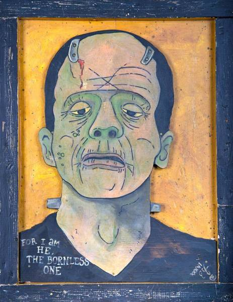 Lunatic Painting - Frankenstein by Eric Cunningham