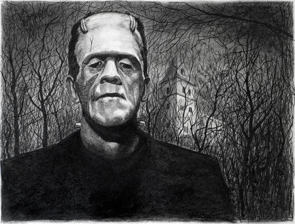 Drawing - Frankenstein Monster by William Underwood