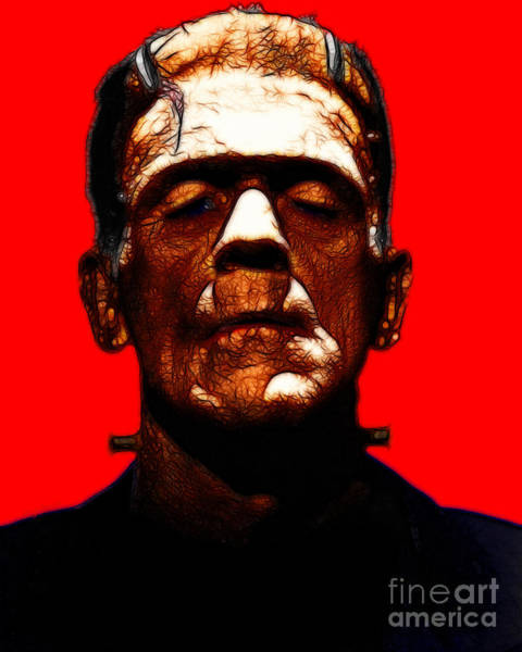 Photograph - Frankenstein - Red by Wingsdomain Art and Photography