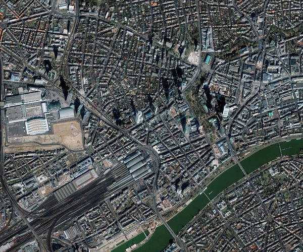 City Centre Photograph - Frankfurt by Geoeye/science Photo Library