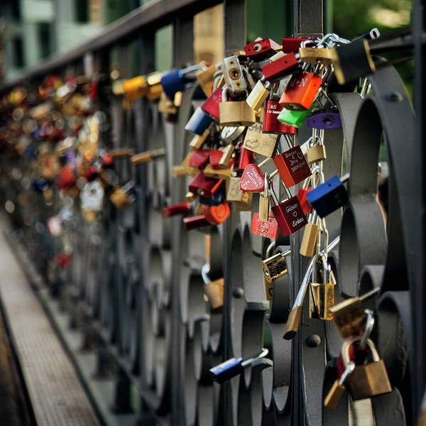 Love Photograph - Frankfurt Love Bridge by Istvan Kadar Photography