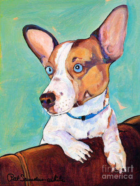 Mutt Painting - Frankie by Pat Saunders-White