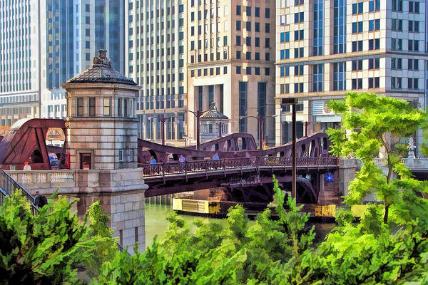 Chicago Franklin Street Bridge Art Print