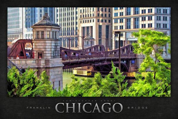 Painting - Franklin Street Bridge Poster by Christopher Arndt