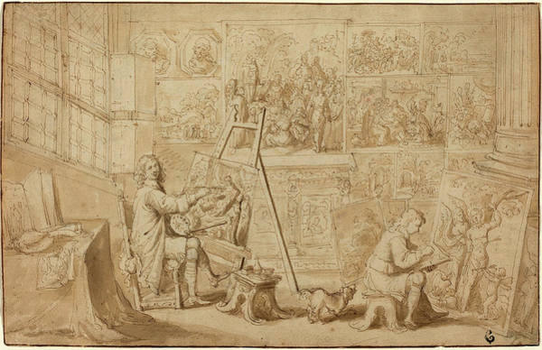 Wall Art - Drawing - Frans Francken The Younger Flemish, 1581 - 1642 by Quint Lox