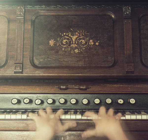 Player Piano Photograph - Frantic At The Keys by Shaunl