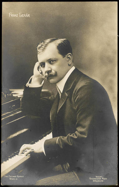 Wall Art - Photograph - Franz Lehar  Hungarian Composer by Mary Evans Picture Library