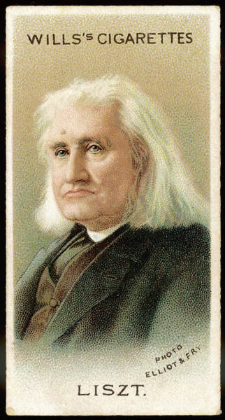 Wall Art - Drawing - Franz Liszt  The Hungarian Composer by Mary Evans Picture Library