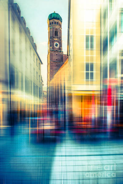 Photograph - Frauenkirche - Munich V - Vintage by Hannes Cmarits