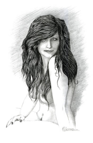 Drawing - Fraulein 2 by Joe Olivares